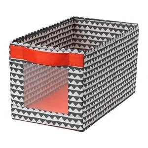 IKEA/イケア ANGELAGEN:ボックス25x44x25 cm ブラック/ホワイト (404....
