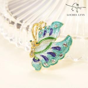 Loches Lynn Butterfly Dream Fashion Brooch Pendant STELLUX Elements AUSTRIA|redheart