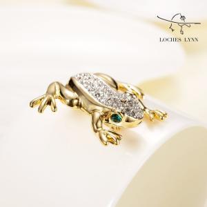 Loches Lynn Frog Green Eyes Fashion Brooch Pendant STELLUX Elements AUSTRIA|redheart