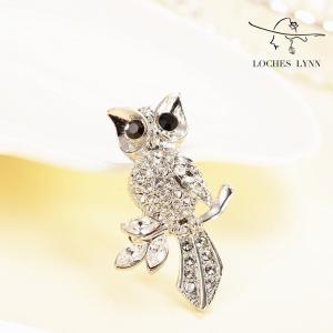 Loches Lynn Crystal Owl Fashion Brooch Pendant STELLUX Elements AUSTRIAN CR|redheart