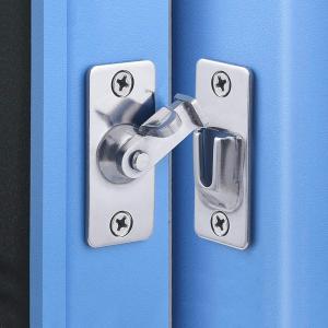 ドア掛け金ラッチ90度、プッシュ/スライド/納屋のドア、サテンニッケル用ステンレス鋼安全角度ロックラッチ redheart