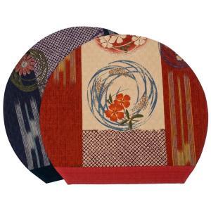 山下工芸(Yamasita craft) 華車半月ランチョンマット 紺|redheart