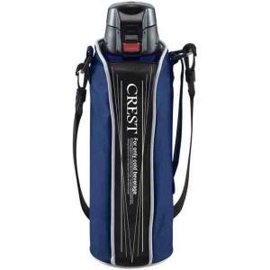 タフコ ステンレス冷水ボトル ワンタッチスポーツボトルクレスト ブルー 1L F-2672|redheart