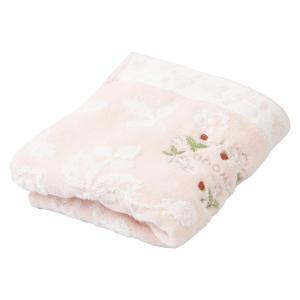 西川産業 ピンク フェイスタオル ウェッジウッド ワイルドストロベリー 綿100% ふわすべ TT2...