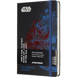 Moleskine Limited Edition Star Wars 12 Month 2020 Daily Planner, Hard Cover|redheart