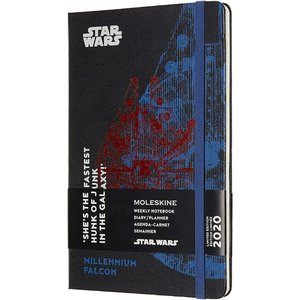 Moleskine 2020 Star Wars Weekly Planner, 12M, Large, Falcon, Hard Cover (5|redheart