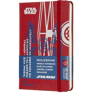 Moleskine Limited Edition Star Wars 18 Month 2019-2020 Weekly Planner, Hard|redheart