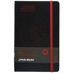 Moleskine Limited Edition Star Wars, 12 Month Weekly Planner, Large, Darth|redheart