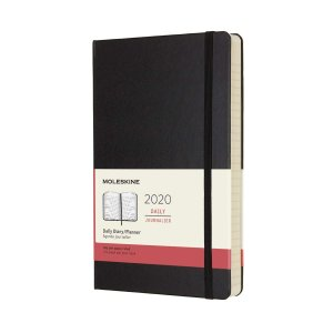 Moleskine 2020 Daily Planner, 12M, Large, Black, Hard Cover (5 x 8.25)|redheart