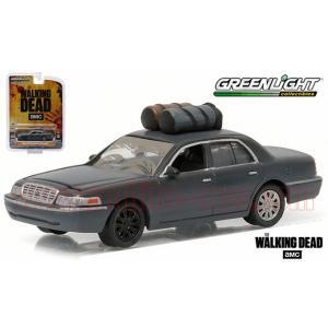 アメ車ミニカー/グリーンライト HOLLYWOOD #14 2001 フォード クラウンビクトリア ドラマ「ウォーキング デッド」 1:64