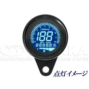 汎用(12V) 60mm デジタルスピードメーター_田中商会直営店|redmotoparts