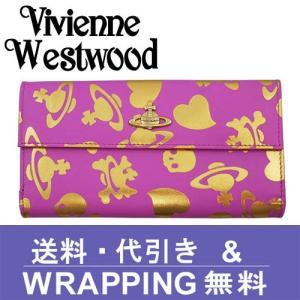 Vivienne Westwood ヴィヴィアン ウエストウッド 長財布 レディース 2801V 73V LOGO PRINT FUXIA ORO|redrose