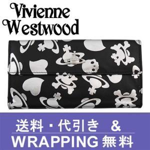 Vivienne Westwood ヴィヴィアン ウエストウッド 長財布 レディース 2801V 73V LOGO PRINT NERO ARGENTO redrose