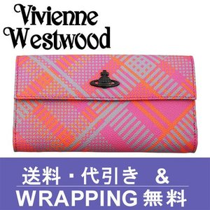 Vivienne Westwood ヴィヴィアン ウエストウッド 長財布 レディース 2801V 73V TECHNO TARTAN ROSA|redrose