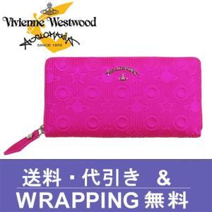 Vivienne Westwood ANGLOMANIA ヴィヴィアン ウエストウッド アングロマニア ラウンドファスナー 長財布 レディース 390012 CHILHAM PINK|redrose