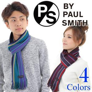 マフラー メンズ/レディース/ブランド/ウール PS by Paul Smith ポールスミス マフ...