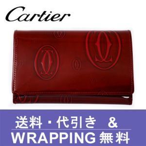 カルティエ Cartier 二つ折り財布(小銭入れあり) レディース ハッピーバースデー L3000347 redrose