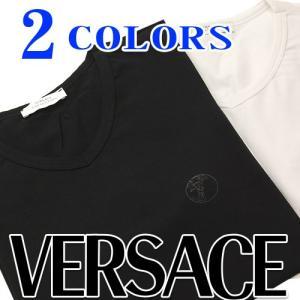 ヴェルサーチ Tシャツ VERSACE COLLECTION Vネック Tシャツ redrose