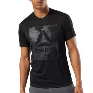 DELTAマークのグラフィックをフロントに配したグラフィックショートスリーブTシャツ。吸汗速乾性のあ...