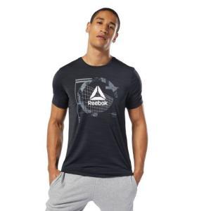 Reebok独自のクールタッチファブリックACTIVCHILLのショートスリーブグラフィックTシャツ...