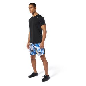 吸汗速乾性のある素材を使用したショートスリーブTシャツ。バックに斜めに配されたカラーブロックがデザイ...