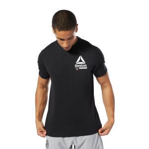 吸汗速乾性のあるシングルジャージを使用したグラフィックショートスリーブTシャツ。REEBOKをコラー...