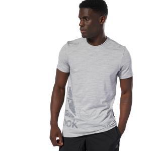 セール価格 リーボック公式 Tシャツ Reebok TE マーブル ショートスリーブ Tシャツ