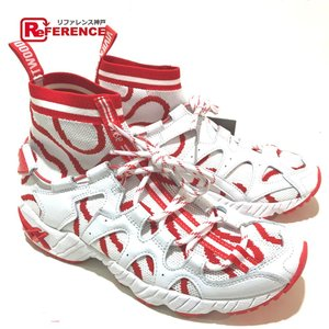 Vivienne Westwood ヴィヴィアンウエストウッド 119A256.100 GEL-MAI KNIT MT 靴 スニーカー ホワイト×ファイアリーレッド メンズ  未使用【中古】|reference