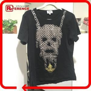 Vivienne Westwood ヴィヴィアンウエストウッド コットン スカル 半袖Tシャツ ブラック レディース 【中古】|reference
