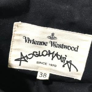 Vivienne Westwood ヴィヴィアンウエストウッド アングロマニア ロゴワッペンステッチ  タグ有 ブラック レディース 【中古】 reference 05