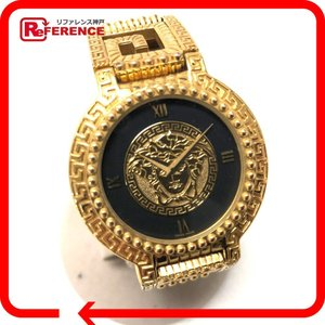 GIANNI VERSACE ジャンニヴェルサーチ メデューサ レディース腕時計 クオーツ ブラック×ゴールド 中古|reference