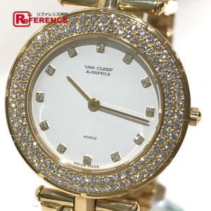 Van Cleef & Arpels ヴァンクリーフ&アーペル スポーツ2 K18YG無垢 ダイヤベゼル 12Pダイヤ ボーイズ腕時計 13107 仕上げ済み 新品同様 中古 KK|reference