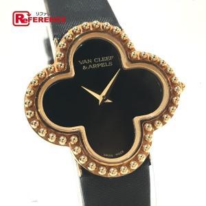 Van Cleef & Arpels ヴァンクリーフ&アーペル 136574 アルハンブラ レザーベルト 腕時計 イエローゴールド レディース 【中古】|reference