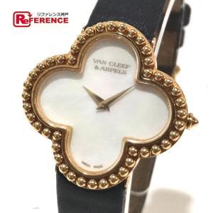 Van Cleef & Arpels ヴァンクリーフ&アーペル 136374 アルハンブラ ミディアム 腕時計 イエローゴールド レディース 【中古】|reference