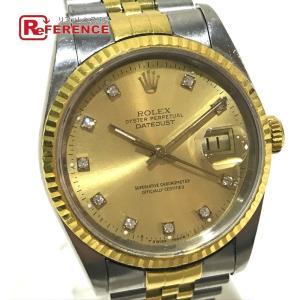 ROLEX ロレックス 16233G デイトジャスト オイスターパーペチュアル デイト 10Pダイヤ 腕時計 イエローゴールド メンズ 【中古】 reference