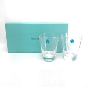TIFFANY&Co. ティファニー ペアグラス タンブラー コップ グラマシー グラス クリア ユニセックス  未使用【中古】 reference 04
