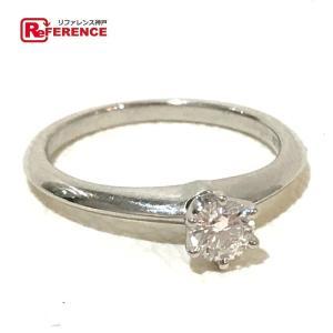 TIFFANY&Co. ティファニー 1Pダイヤ ソリテール リング リング・指輪 ダイヤモンド 8号 プラチナ レディース 【中古】|reference