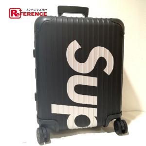 RIMOWA リモワ Supreme/RIMOWA Topas Multiwheel 45L black シュプリーム×リモワ キャリーバッグ ブラック ユニセックス  未使用【中古】|reference