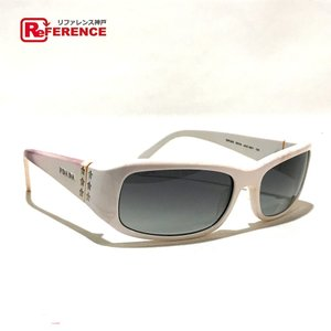 PRADA プラダ SPR20G ファッション 小物 サングラス ホワイト ユニセックス 【中古】 reference