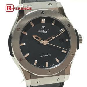 HUBLOT ウブロ 542.NX.1170.LR クラシックフュージョン デイト チタニウム 腕時計 シルバー メンズ 【中古】 reference