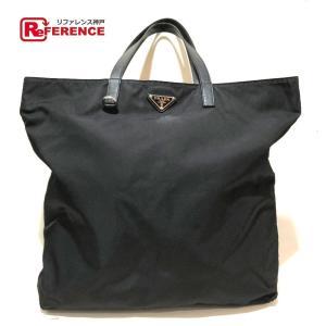 PRADA プラダ BR4263 レディース ロゴプレート トートバッグ ブラック メンズ 【中古】 reference