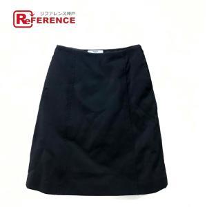 PRADA プラダ DNA607 ハーフ スカート タグ有 スカート ブラック レディース  新品同様【中古】|reference