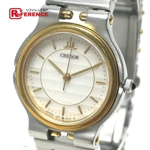 SEIKO セイコー クレドール レディース腕時計 SS×K18YG オニキスリューズ クオーツ 1271-0050 中古|reference