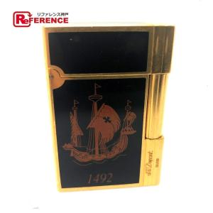 S.T.Dupont エス・テー・デュポン 1492 ギャッツビー ガスライター コロンブス アメリカ大陸500周年記念限定 ライター ゴールド メンズ 【中古】|reference