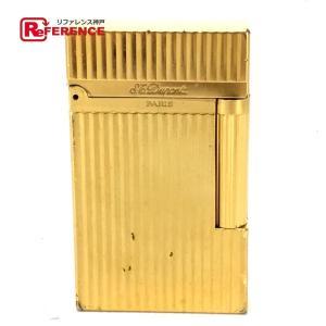S.T.Dupont エス・テー・デュポン 16827 ライン2(モンパルナス) ライター ゴールド ユニセックス 【中古】|reference