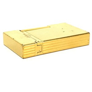 S.T.Dupont エス・テー・デュポン 16827 ライン2(モンパルナス) ライター ゴールド ユニセックス 【中古】|reference|03