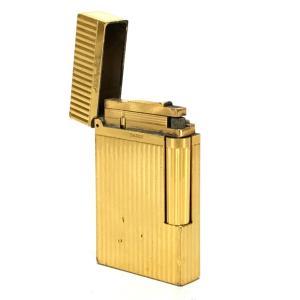 S.T.Dupont エス・テー・デュポン 16827 ライン2(モンパルナス) ライター ゴールド ユニセックス 【中古】|reference|07