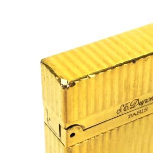 S.T.Dupont エス・テー・デュポン 16827 ライン2(モンパルナス) ライター ゴールド ユニセックス 【中古】|reference|09