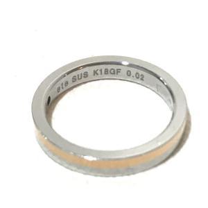 ete エテ コンビ アクセサリー 小物 リング・指輪 ダイヤモンド 9号 ゴールド×シルバー レディース 【中古】|reference|02