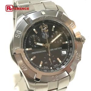 TAG HEUER タグホイヤー CN1110 プロフェッショナル 200MM クロノグラフ 腕時計 シルバー メンズ 【中古】 reference